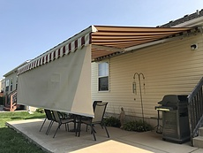 Retractable awning drop shade st louis