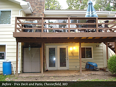 Before - Trex Deck and Patio, Chesterfield, MO