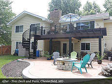 After - Trex Deck and Patio, Chesterfield, MO