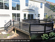 After - Curved Deck with Bar, St. Louis, MO