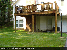 Before - Curved Trex Deck, St. Louis, MO