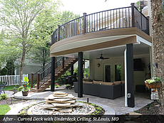 After - Curved Deck with Underdeck Ceiling, St.Louis, MO