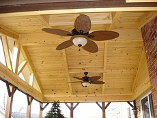 Covered Deck with Ceiling Fan in St. Louis, MO