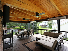 Covered Deck with a Heater in St. Louis