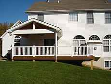 TimbertecTimbertech Brown Oak Deck with Fixed Roof in St. Charles, MOh Brown Oak Deck with Fixed Roof - St. Charles, MO