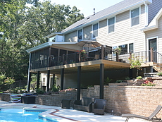 Covered and Screened Deck in St. Louis, MO