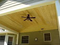 Covered Deck with a Pine Ceiling in St. Louis