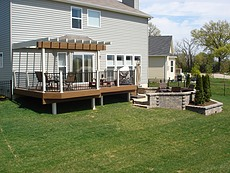 Deck with Vinyl Pergola in St. Charles, MO