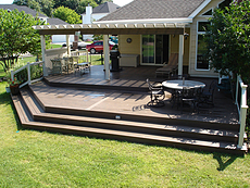 Almond Pergola with Beam Matching Decking - St. Peters, MO