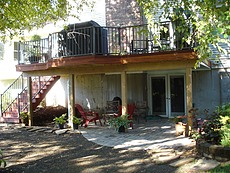 Tigerwood Deck with Bronze Aluminum Rail in St. Louis, MO