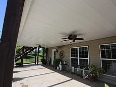 Under Deck Ceiling with a Fan in St. Louis, MO