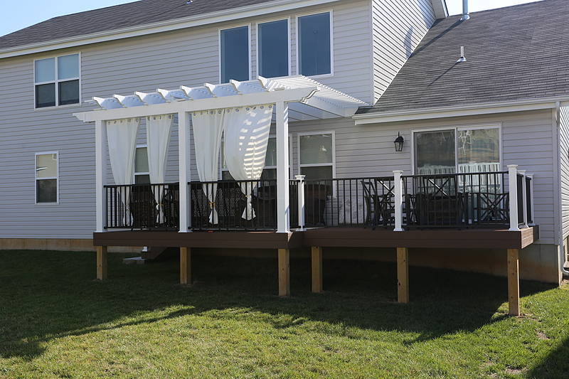 how to build a composite wood deck