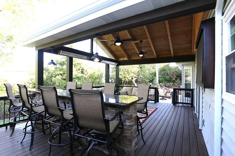 Aesthetic Design Build Covered Decks Portfolio St